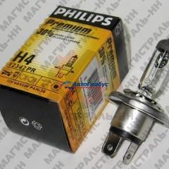 Лампа галогенная Н4 12В/60-55Вт (P43t) (+30% света) Premium Philips  (1шт.)